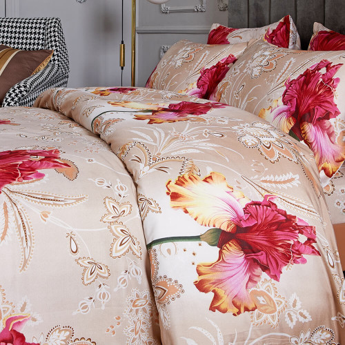 DM722Q  Floral Reversible Bedding Set Dropship