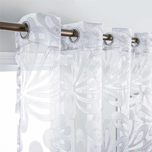 Dolce Mela Brussels  Silver accent  Sheer Curtains