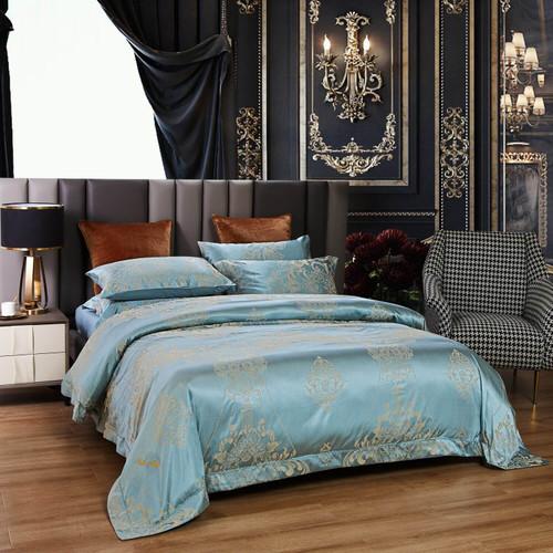 DM811Q - 6 Pieces Luxury Jacquard King Size Duvet Cover Set