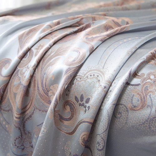 Dropshipping Supplier Jacquard Grommet Curtains DMCU819