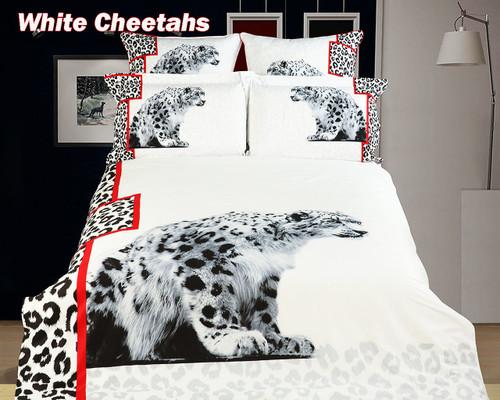 Dropship 8171460117354 DM431T White Cheetahs Dolce Mela Bedding