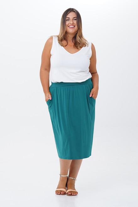 Belinda pocket skirt-front view