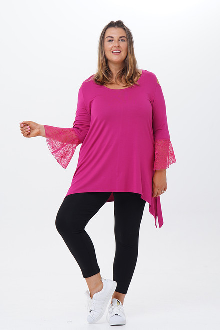 Flamenco Net Embroidered Open shoulder Tunic