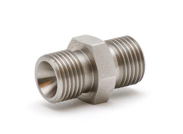 """Pressure fitting Bx G1/8"""" male to Bx G1/8"""" male"""