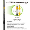Brazos Trekking Poles - Matching Pair with Anti-Shock Tech and Interchangeable Tip - BLUE