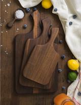 Unseasoned Walnut Paddle Cutting Board Kits w/Board Butter