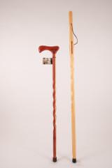 "Pine Stick 48"" (finish/engraving) + Cedar Cane 37"" (chip) 1163"