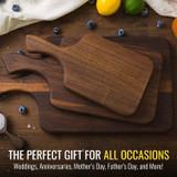 Seasoned Dark Walnut Cutting Boards