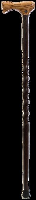 Zebrawood Handle with Twisted Wenge Shaft