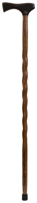 Wenge handle with Twisted Bocote Shaft