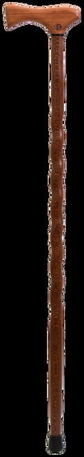 Bubinga Handle with Twisted Lacewood Shaft