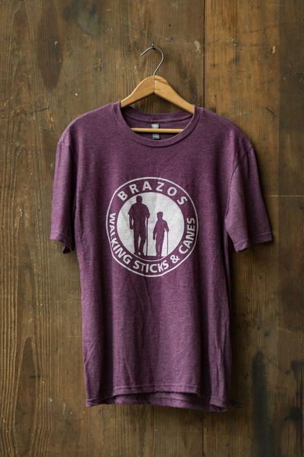 Brazos Walking Sticks T-Shirt -Purple