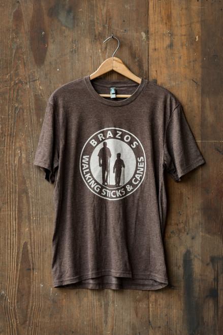 Brazos Walking Sticks T-Shirt -Brown