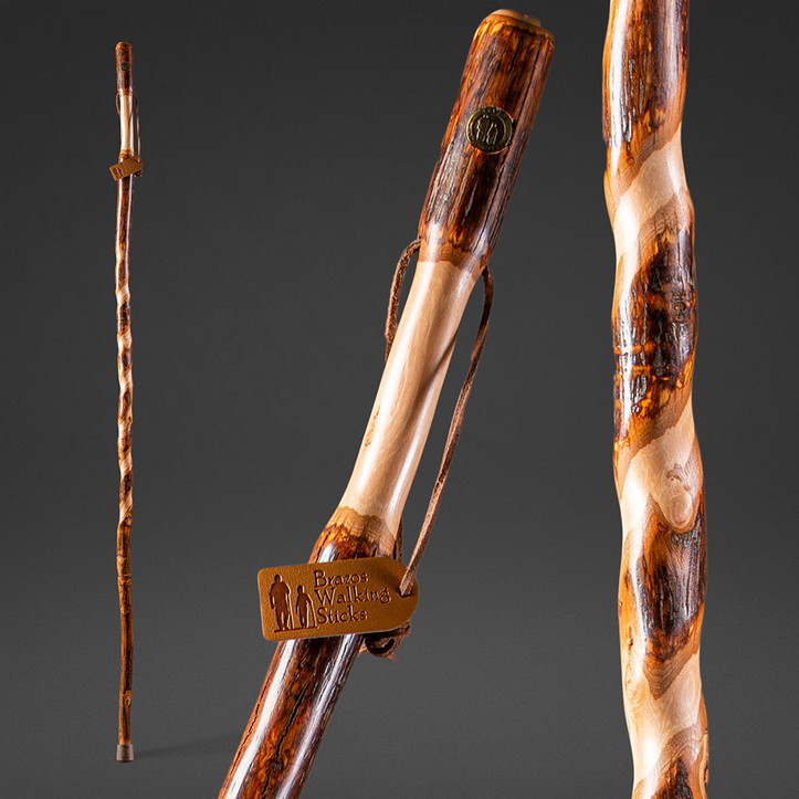Twisted Hickory Sapling Walking Stick