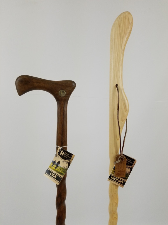 "Twisted Dark Oak Cane 34"" (discontinued) + Hickory Hitchhiker 41"" (discontinued) 1093"