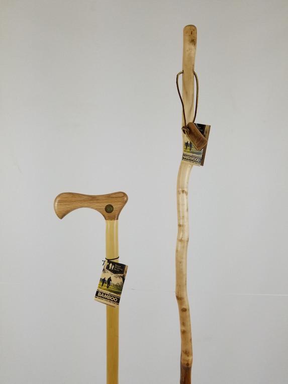 """Bamboo Cane 40"""" (handle cosmetics) + Freeform Hardwood Stick 55"""" (finish issues) 1098"""