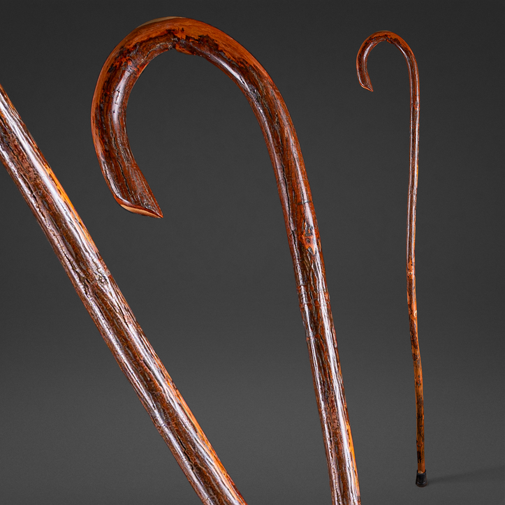 Hickory Shepherd's Crook Walking Stick (not eligible for expedited shipping)