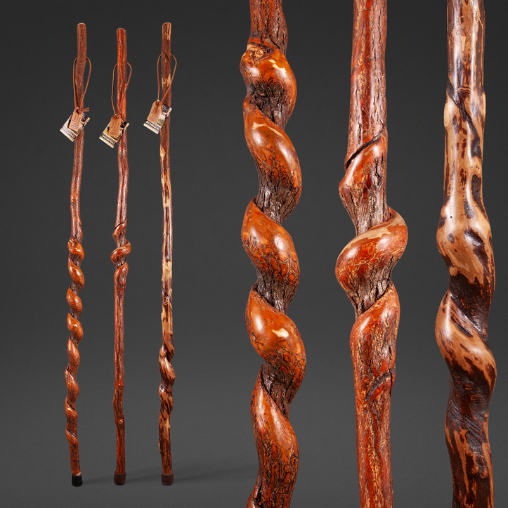 Vine Twisted Walking Stick - Assorted Woods