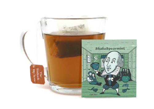 20pk - William ShakeSpearmint: Organic Spearmint Tea - (LiTEArary)