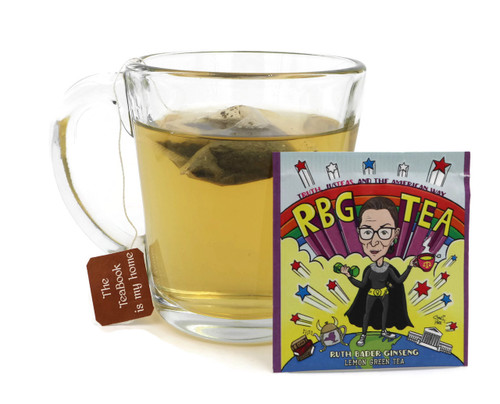 RBG Tea: Ruth Bader Ginseng Lemon Green Tea (PoliTEAcal).