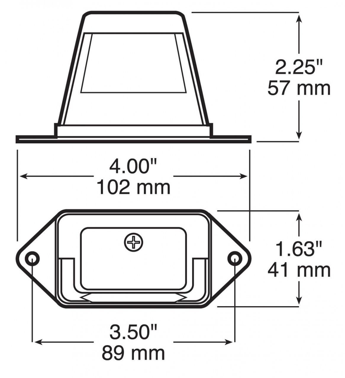 LED296C2 --- LED Licence Plate Light - 2 Diodes