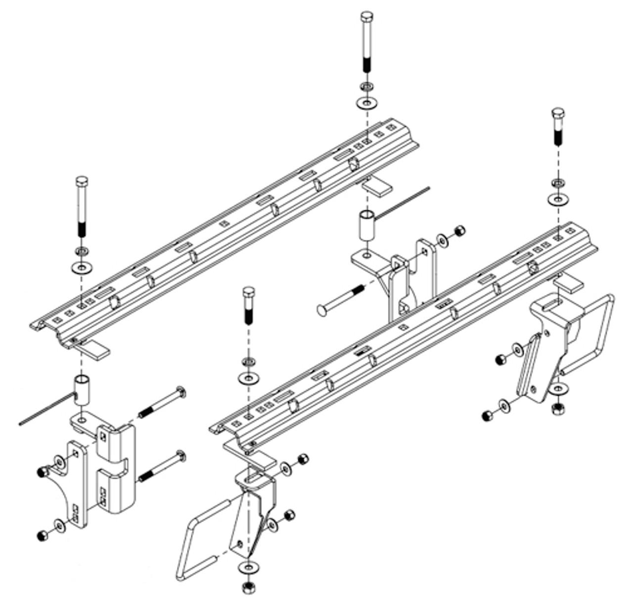 8552023 --- Demco Rail Kit - Premier or Ultra Series