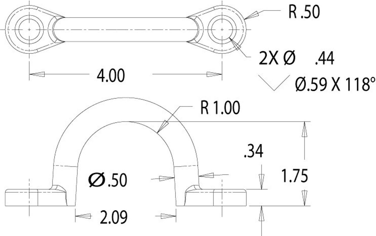 B2402AL --- Aluminum Chain Loop - Bolt On