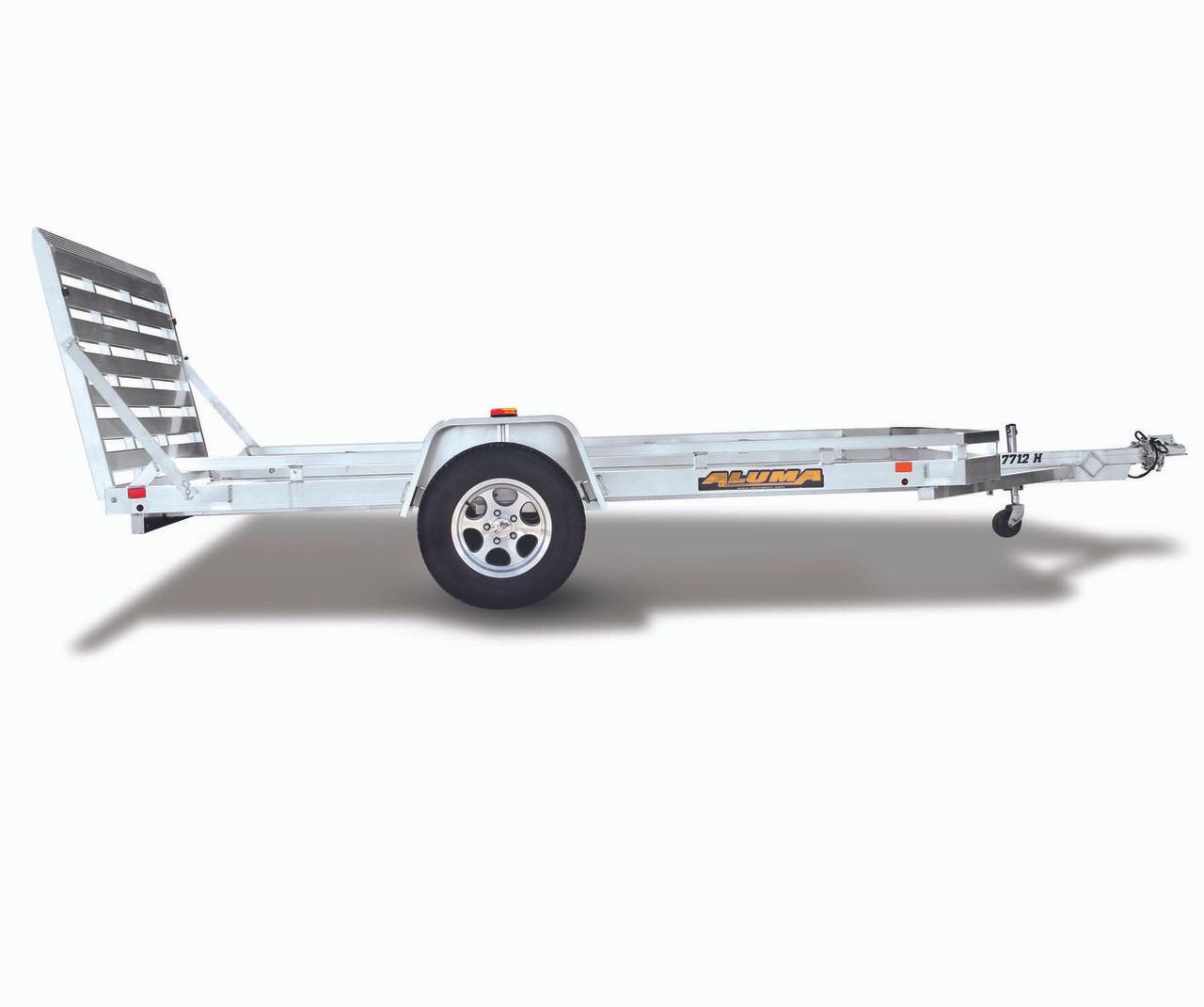 "AL7210H --- 72"" x 10' Aluminum Utility Trailer Heavy Duty with Ramp Gate"