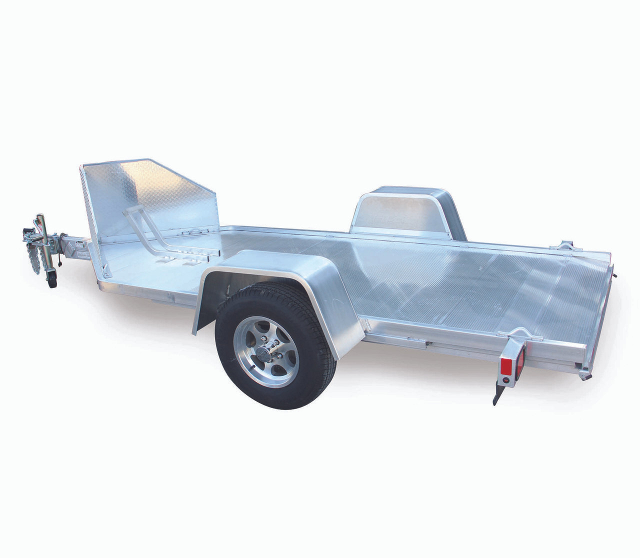 "ALMC10 --- 51"" x 10.5' Aluminum Motorcycle Trailer with Ramp Gate"