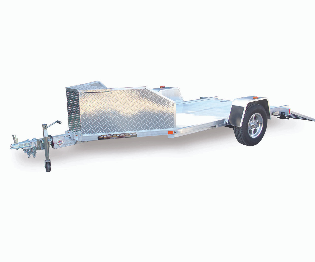 "ALTK1 --- 63"" x 137"" Aluminum Trike Trailer with Ramp"