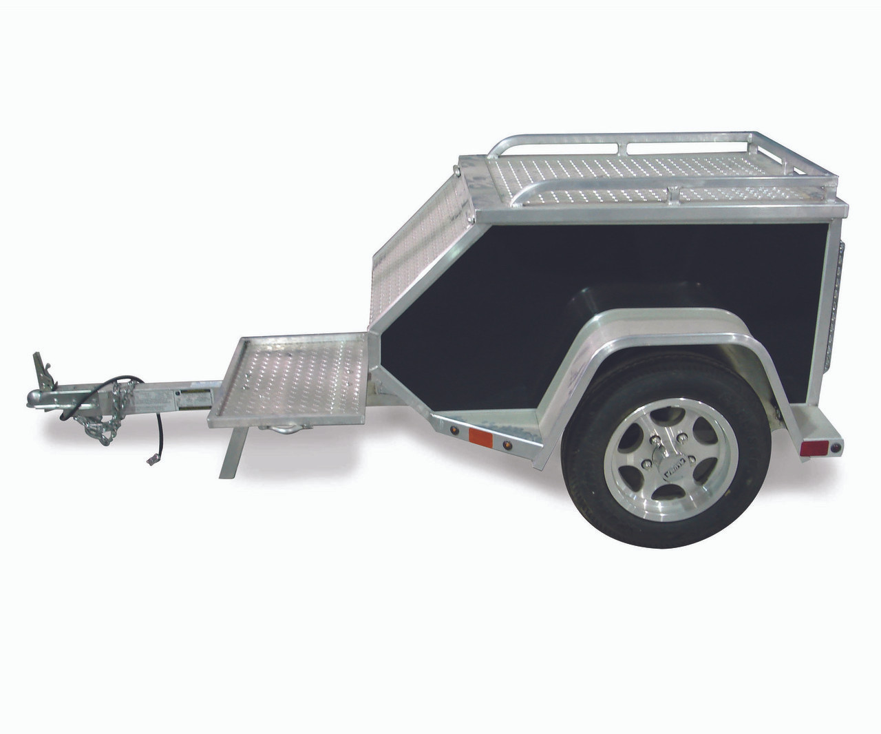 """ALMCT --- 45"""" x 27"""" Aluminum Trailer to Pull Behind Motorcycle"""