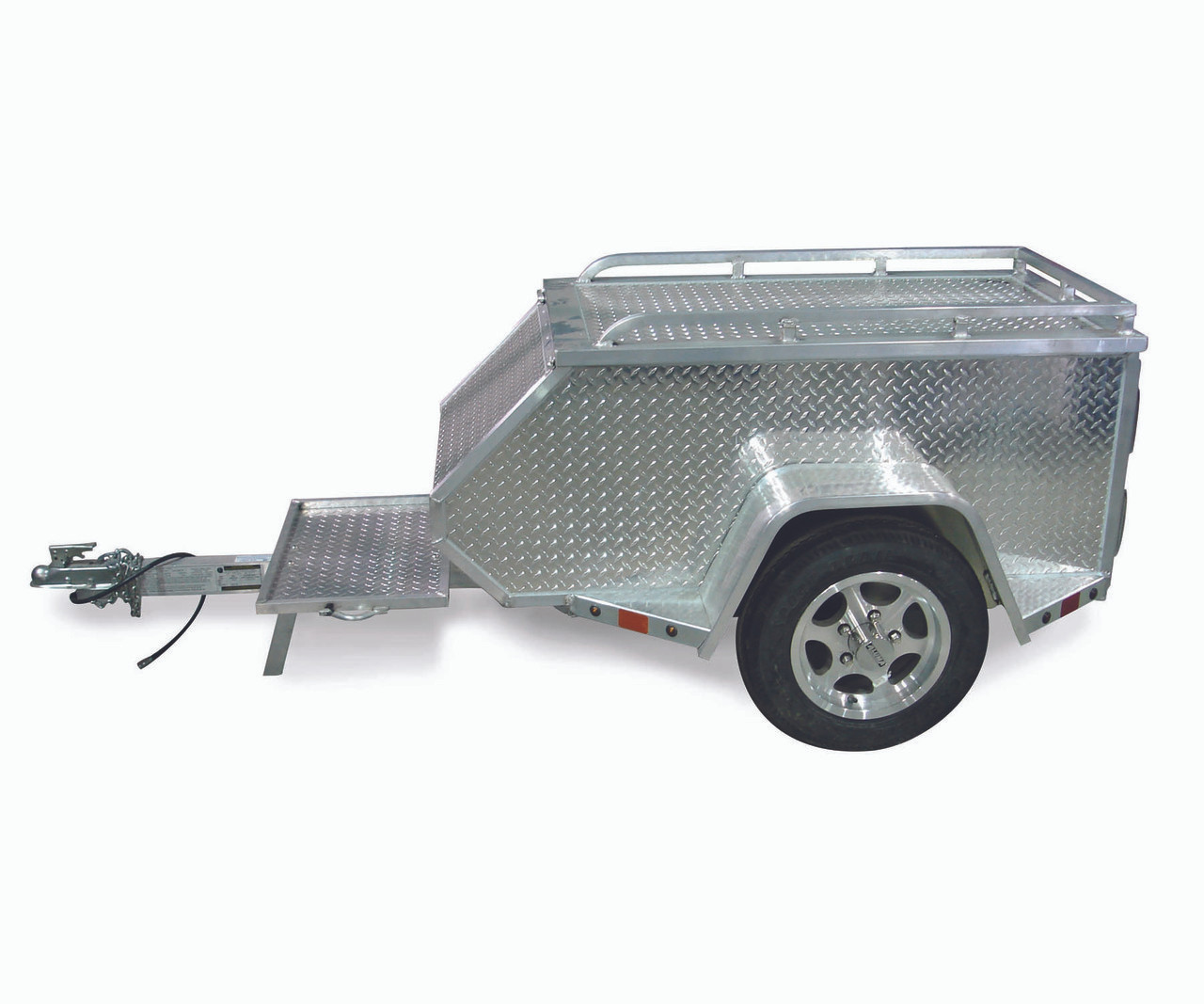 """ALMCTXL --- 57"""" x 27"""" Aluminum Trailer to Pull Behind Motorcycle"""