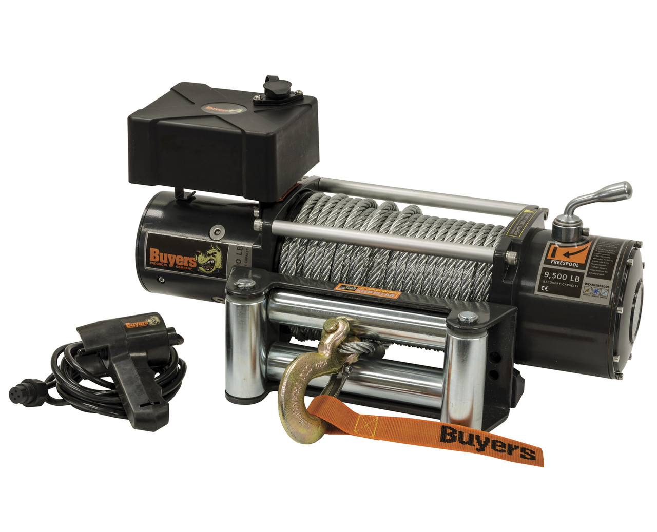 5579500 --- Waterproof Electric Winch - 9,500 lb Capacity