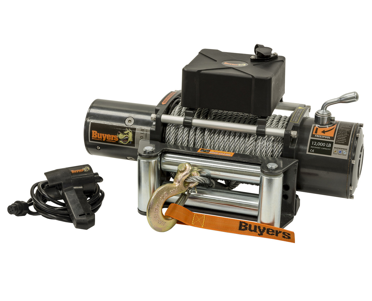 5571200 --- Waterproof Electric Winch - 12,000 lb Capacity