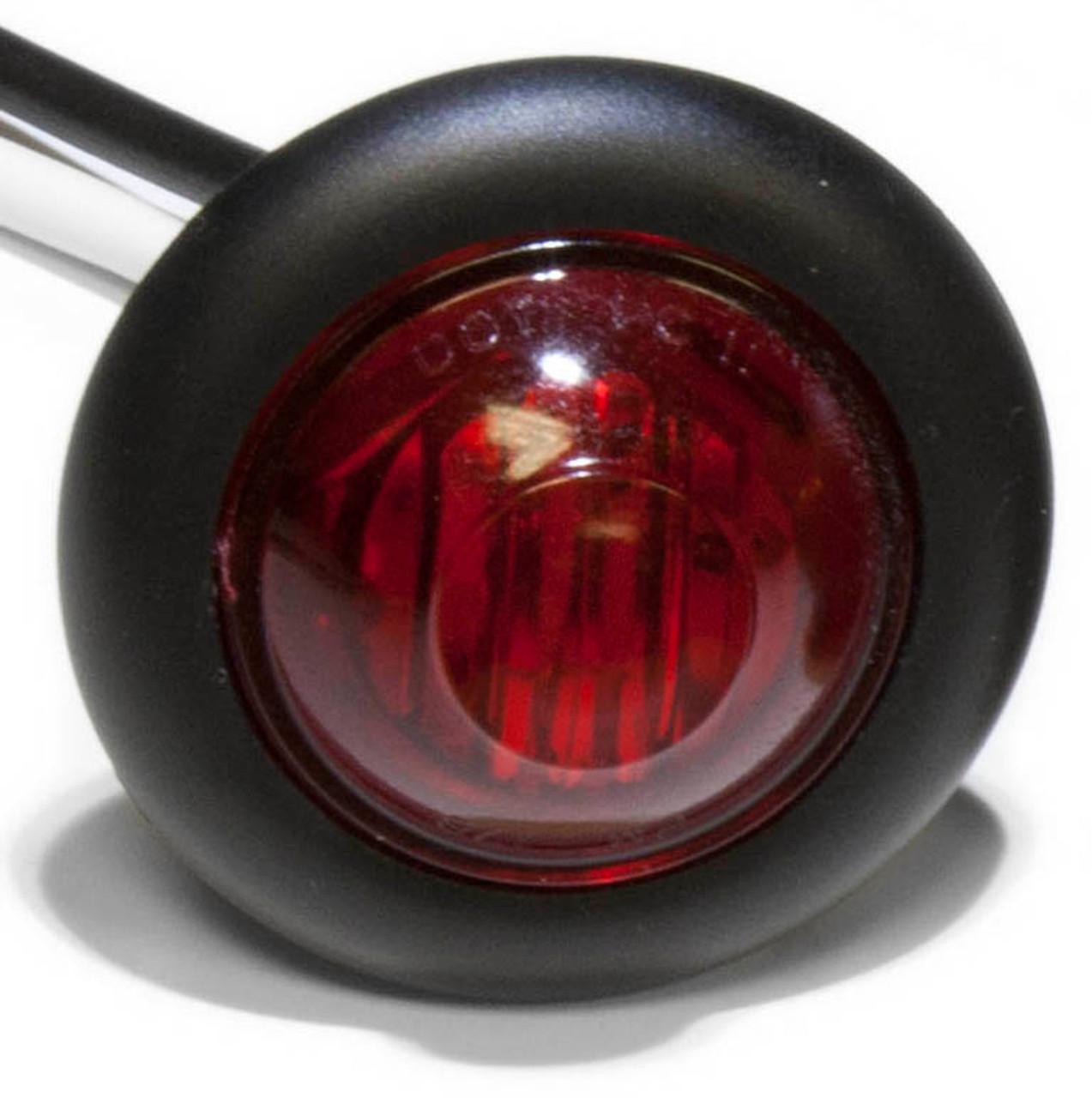 "LED181KR --- Raised 1"" Round Red Sealed LED Clearance/Side Marker Light Kit - 1 Diodes"