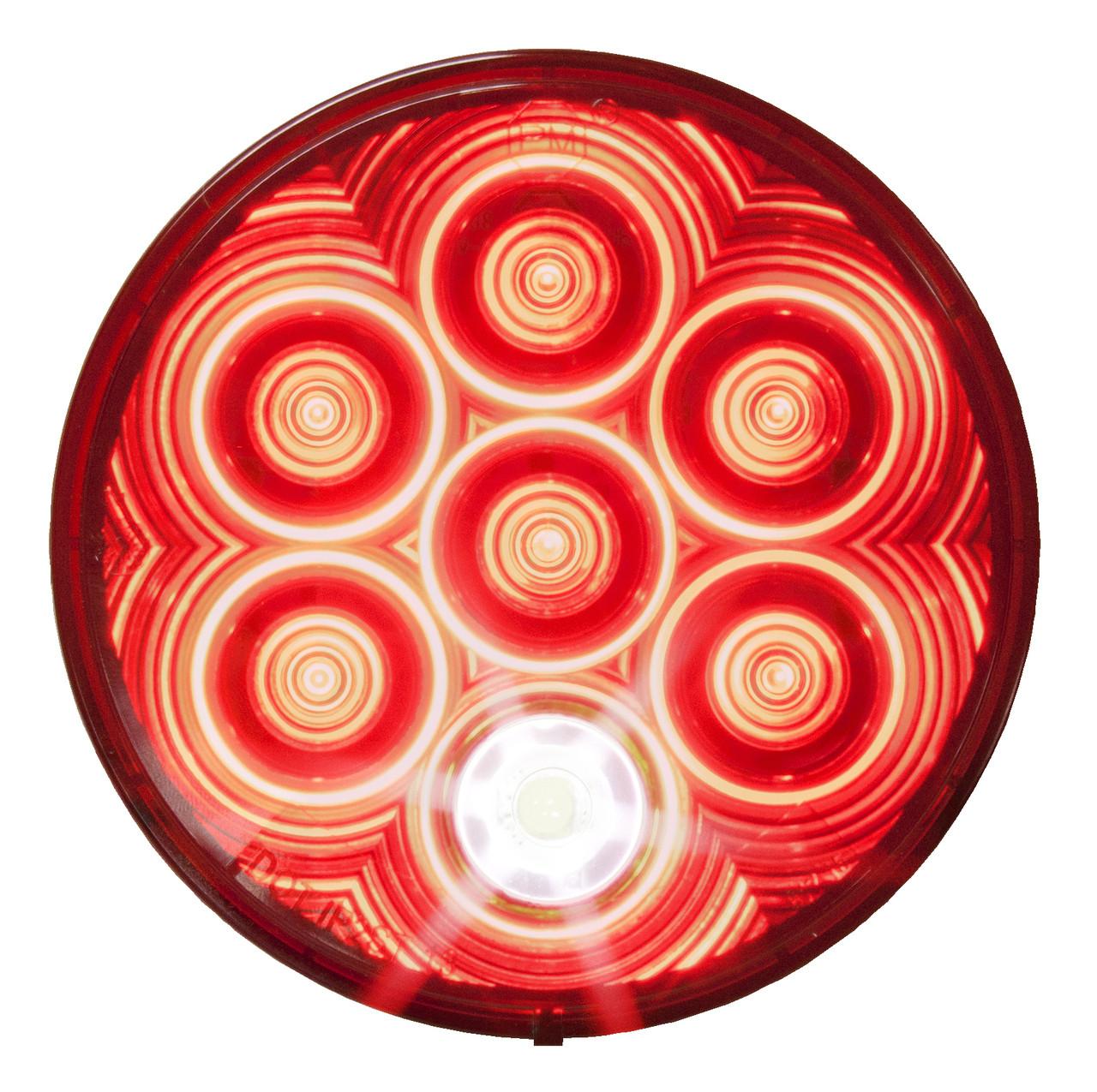 "LED882KR7 --- Round 4"" Sealed LED Tail Light Kit with Back-Up"