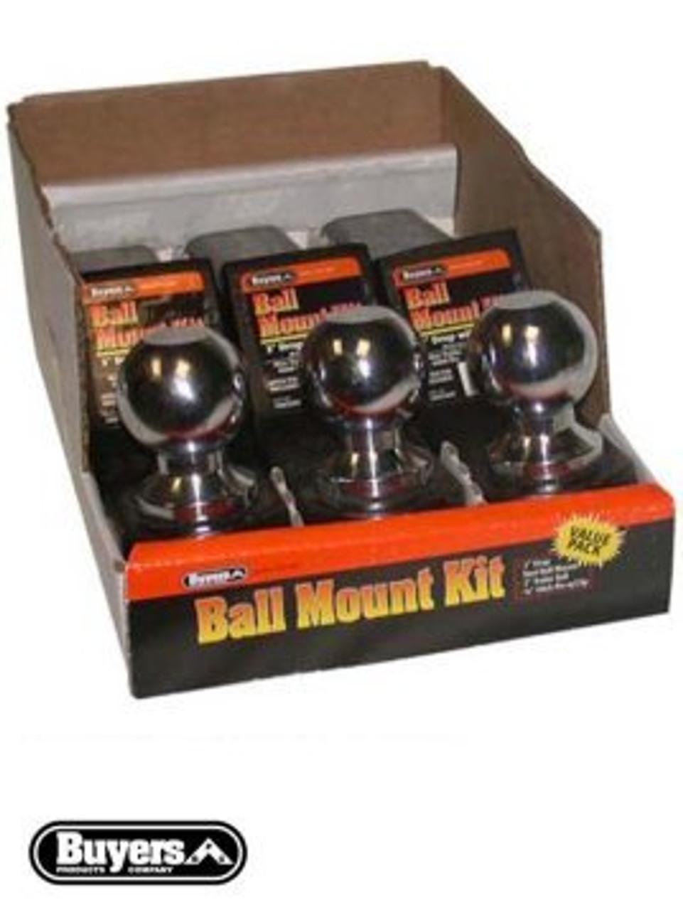 "BMK4-2516B --- Ball Mount Kit - 4"" Drop - 6,000 lb Capacity - 3 Pack"