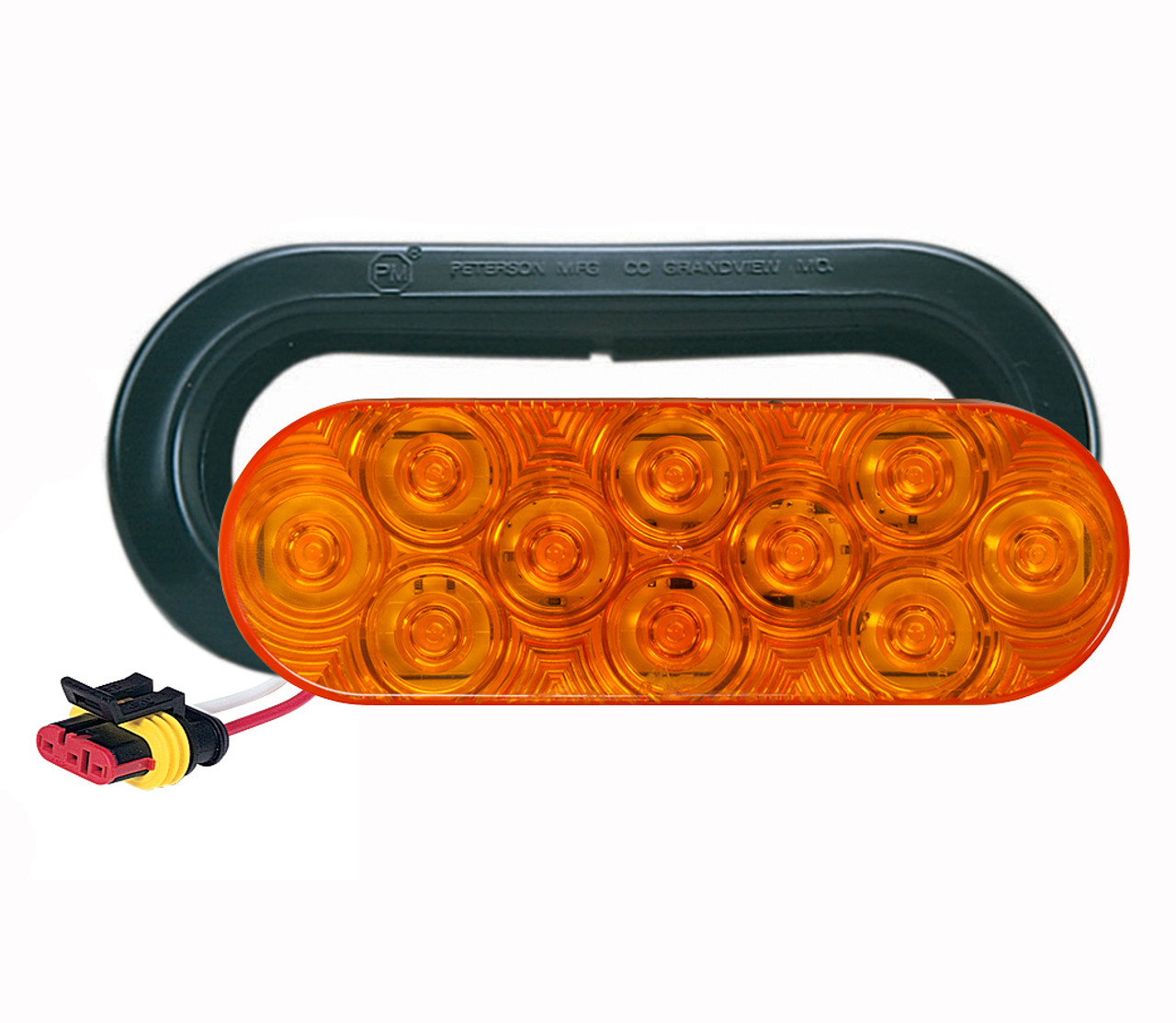 LED820SKA-10 --- Amber LED LumenX® Oval Strobe Light kit