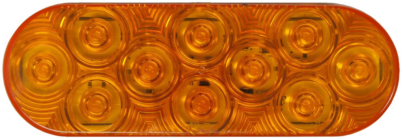 LED820SA-10 --- Amber LED LumenX® Oval Strobe Light