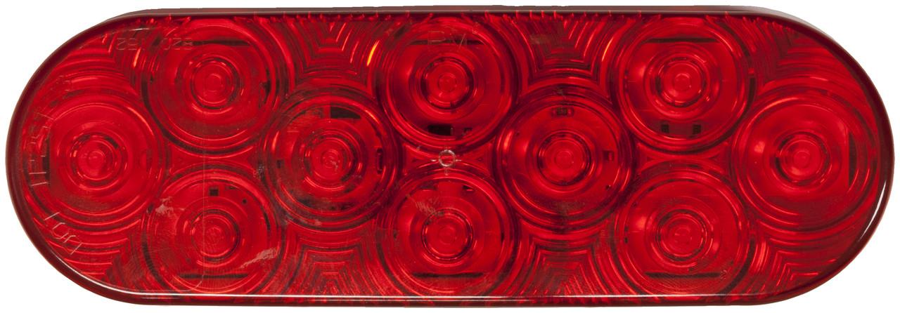 LED820SR-10 --- Red LED LumenX® Oval Strobe Light