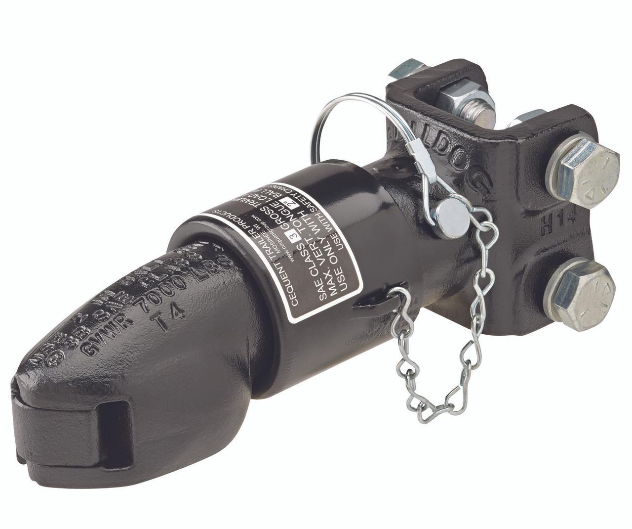 "2BWC-AR --- BULLDOG Adjustable Anti-Rattle Coupler - 7,000 lb Capacity - 2"""