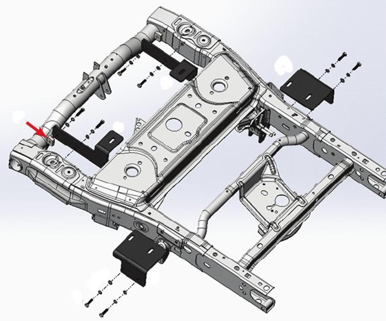 "8553016 --- Demco Rail Kit - SL Series 24"" Head Only"