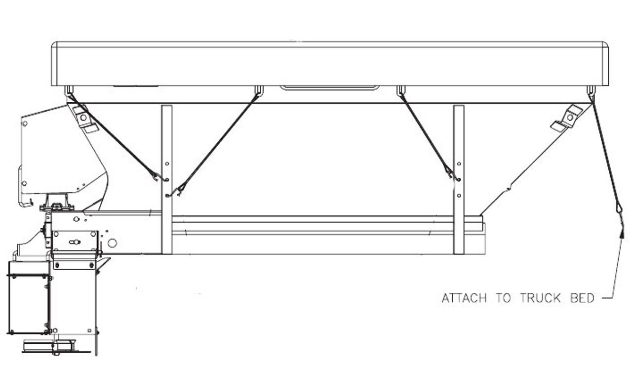 HN79203037 --- Hiniker Tarp Cover for Model 825 & 835 Speaders