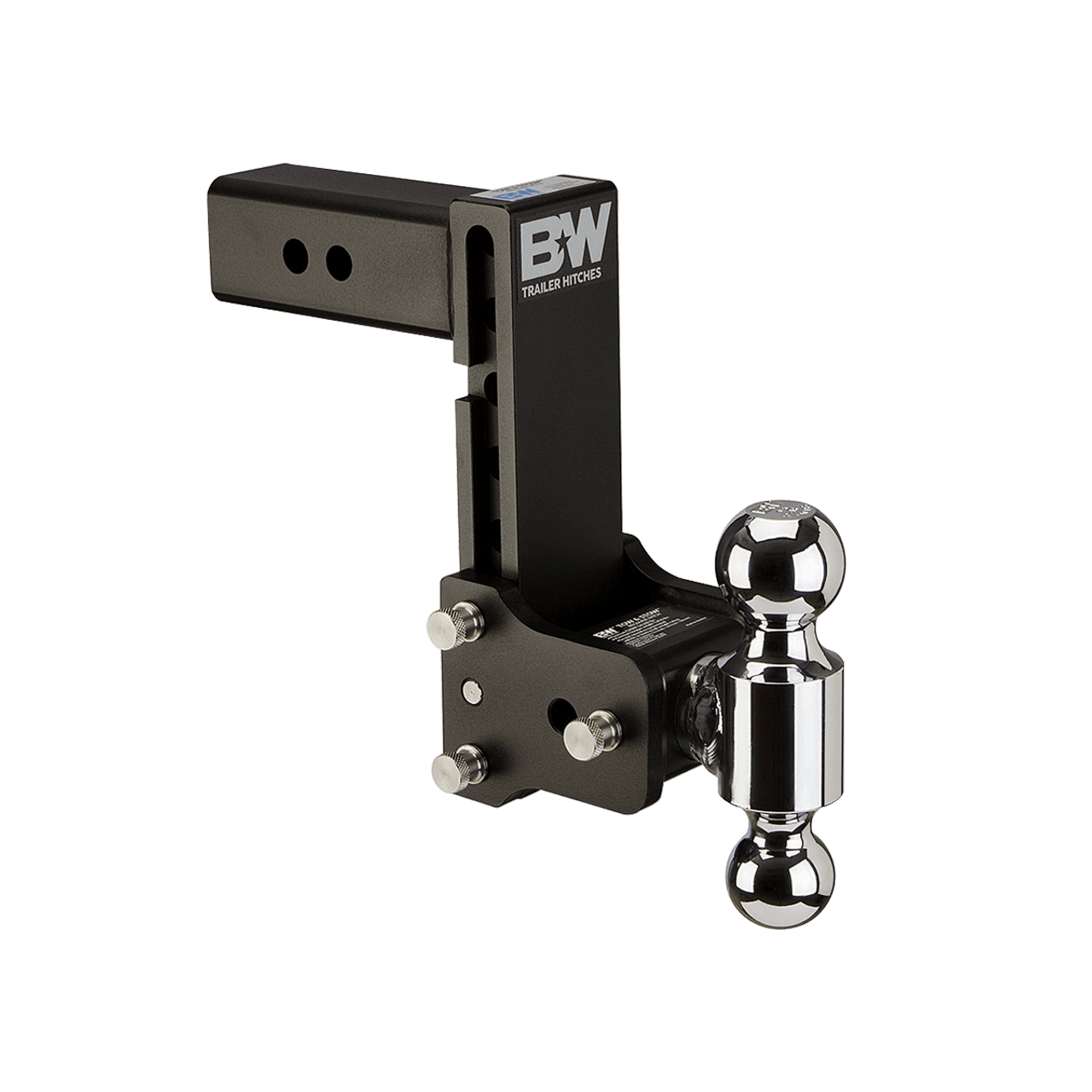 "BW20040B --- B&W 2.5"" Shank Tow and Stow Adjustable Ball Mount with Two Hitch Balls, 7"" Maximum Drop"