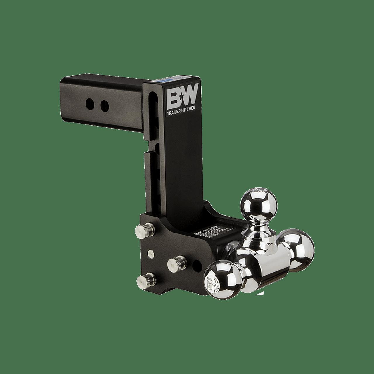 "BW20049B --- B&W 2.5"" Shank Tow and Stow Adjustable Tri-Ball Mount, 7"" Maximum Drop"