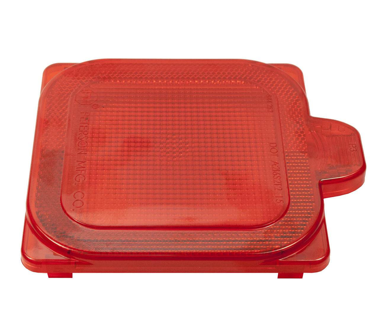 844-252 --- Peterson Replacement Red Square Lens for LED844