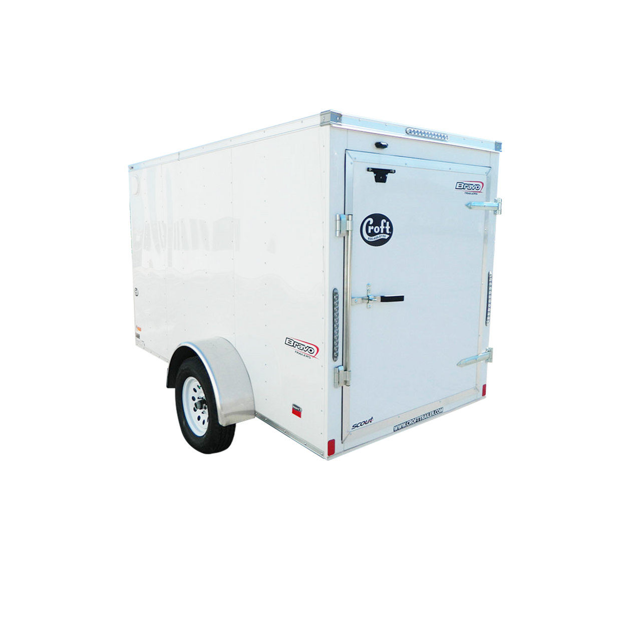 SC510SA --- 5' X 10' Enclosed Trailer with Single Rear Door - Bravo