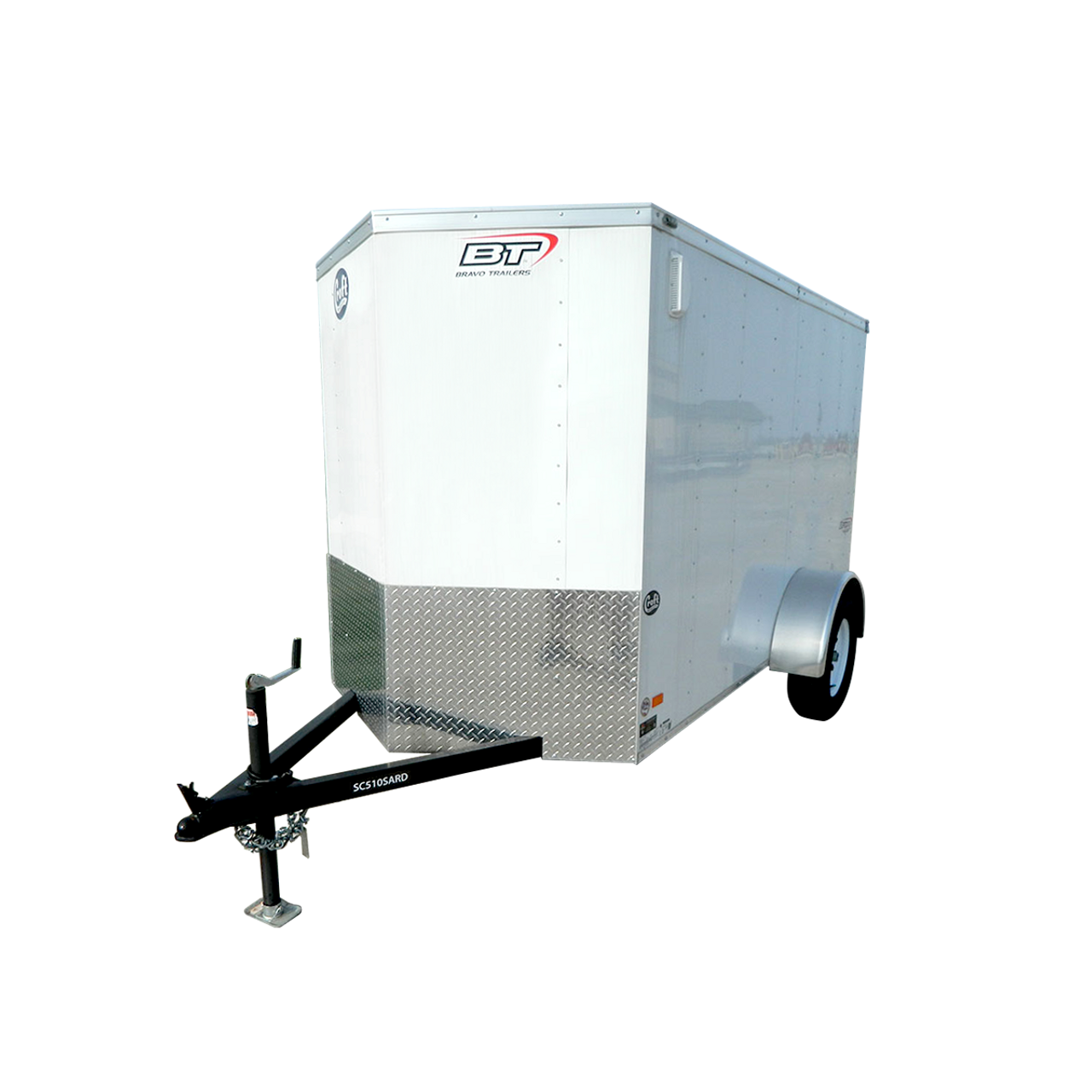 SC510SARD --- 5' X 10' Enclosed Trailer with Ramp Door - Bravo