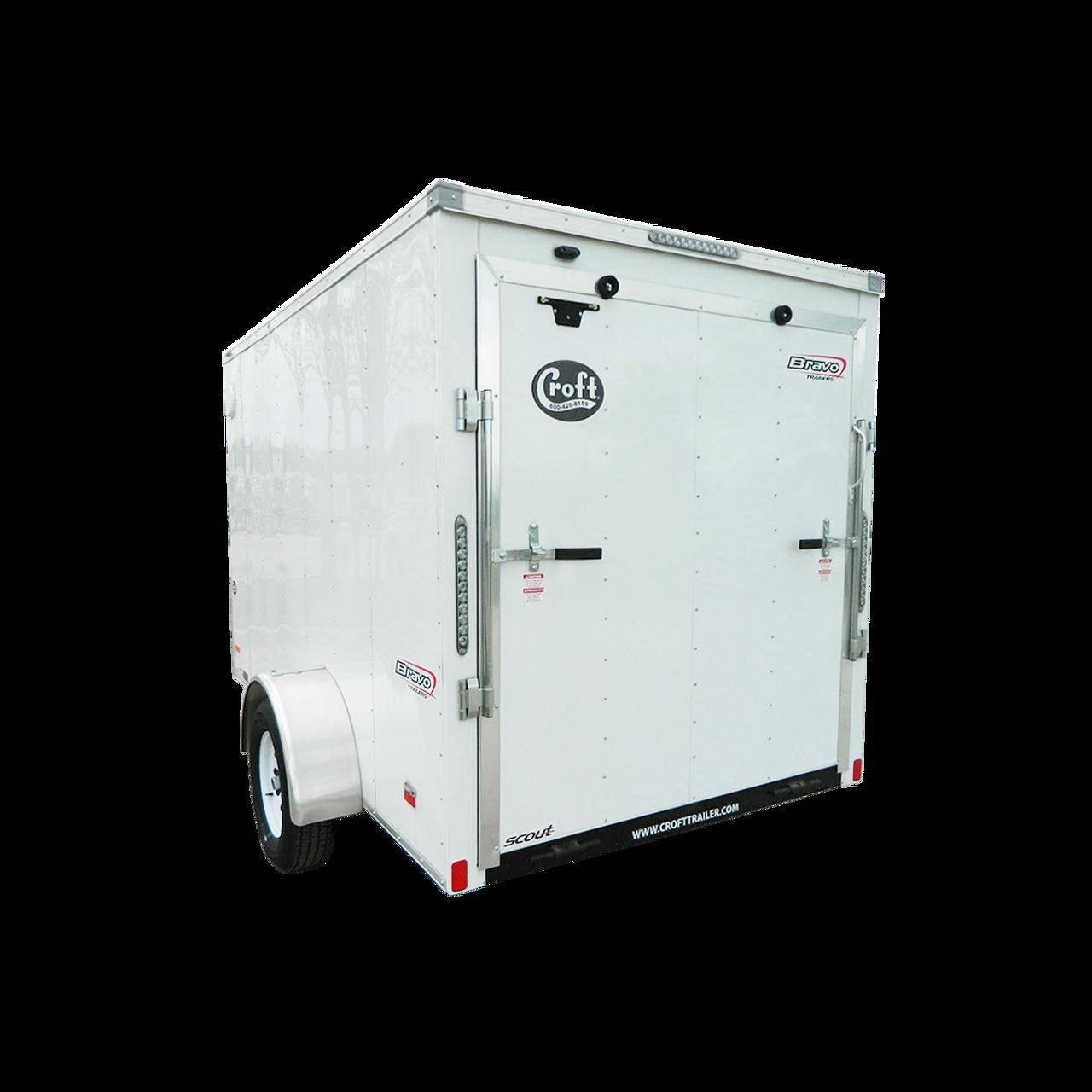 SC610SADRD --- 6' X 10' Enclosed Trailer with Ramp Door - Bravo