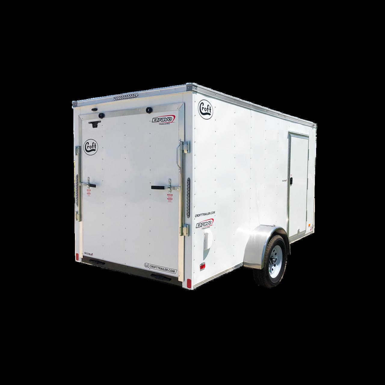 SC612SADRD --- 6' X 12' Enclosed Trailer with Ramp Door - Bravo